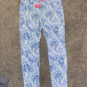 NWT Lilly Pulitzer Kelly Knit Skinny Ankle Pants